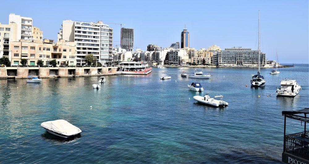View from Balluta Bay, St Julian's, Malta