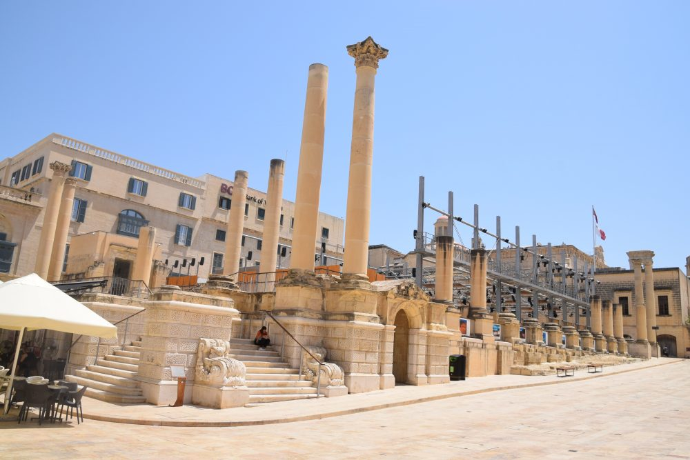 Renzo Piano's open air theatre, part of the new Valletta City Gate Project