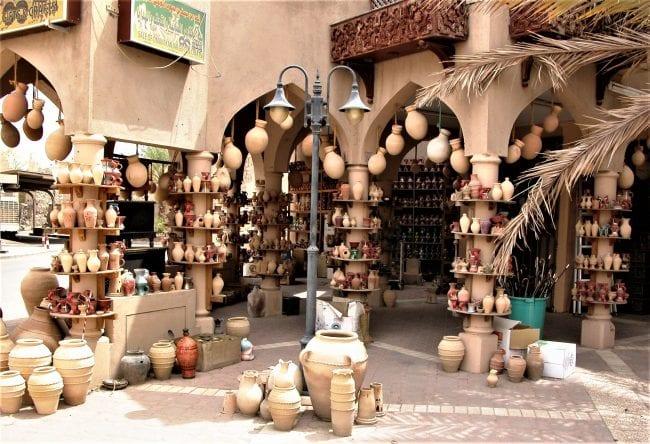 Pots hanging in the souk at Nizwa, Oman