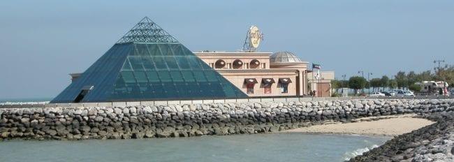 Pyramid and Islamic style Hard Rock cafe building , Kuwait City