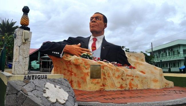 A statue of VC Bird in St John's Antigua