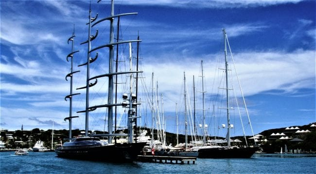 Tall ships at English Harbour Antigua