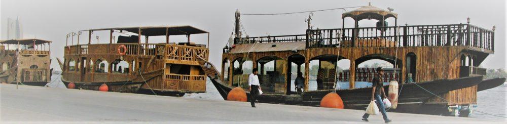 Dhows moored on the Dubai Creek