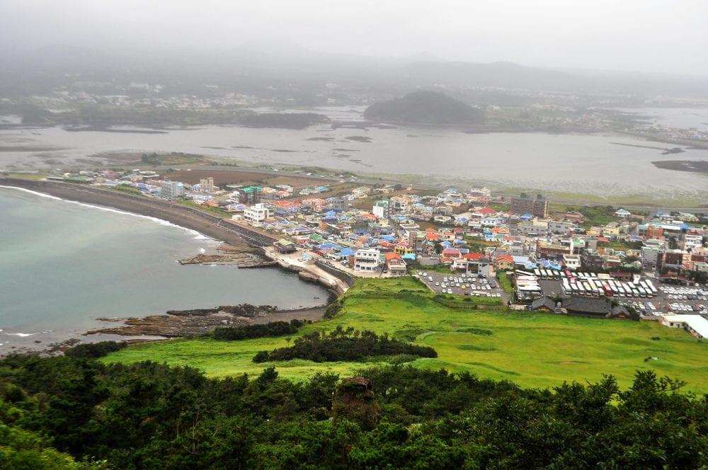 The view from Seongsan Ilchulbong, Jeju, South Korea