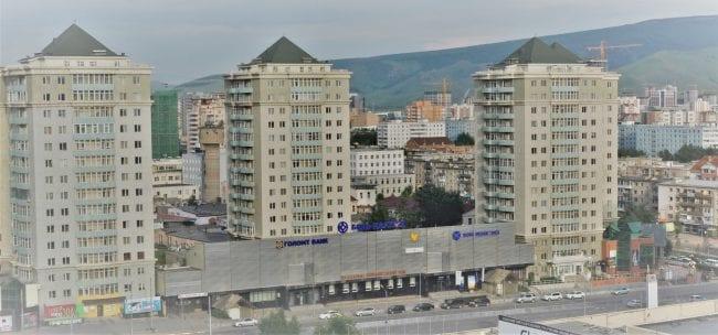 Soviet style apartment blocks in Ulan Bataar