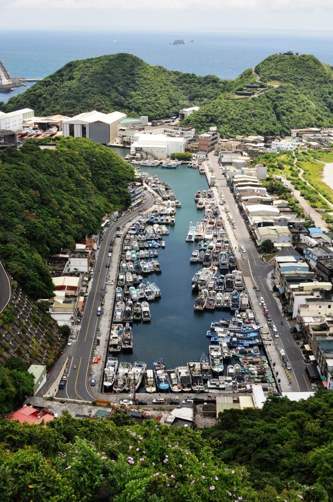 A view from above of Suou harbour