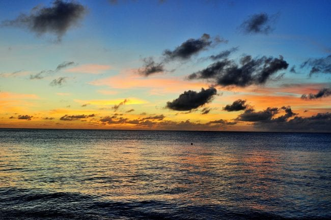 Sunset over the sea, Grand Turk, Turks and Caicos