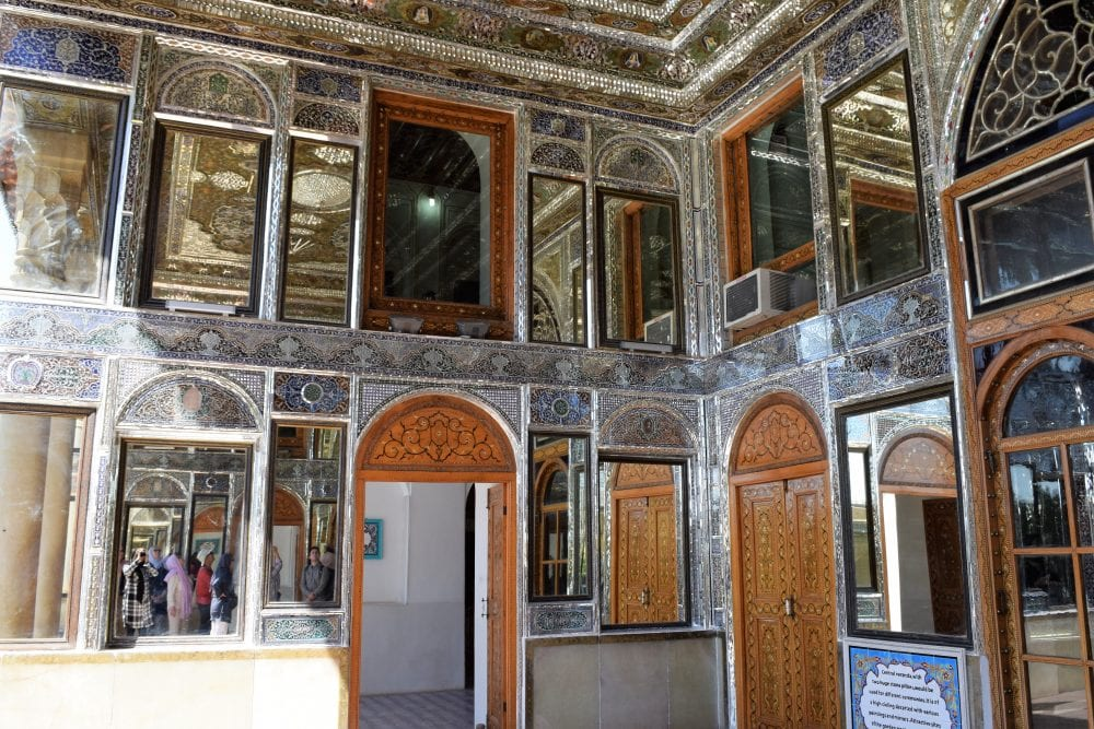 A mirrored hall in the palace at Shiraz, Iran