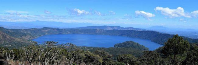 The crater lake at El Boqueron