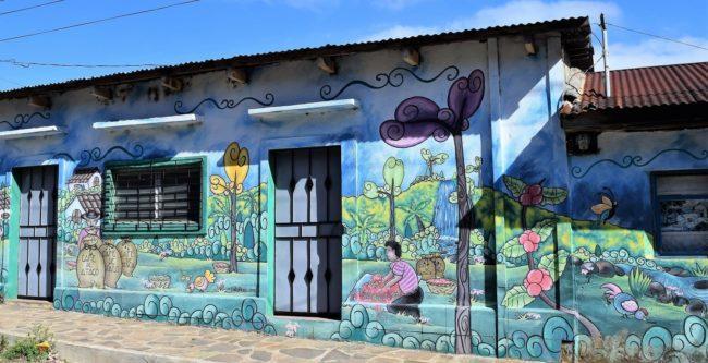 An elaborate mural at Concepcion de Ataco