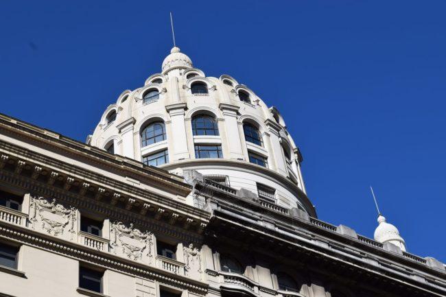 The art nouveau dome of The Galería Güemes, Buenos Aires