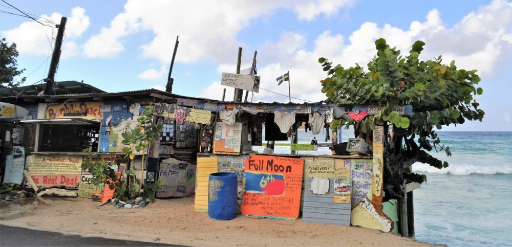 A beach bar on Tortola British Virgin Islands