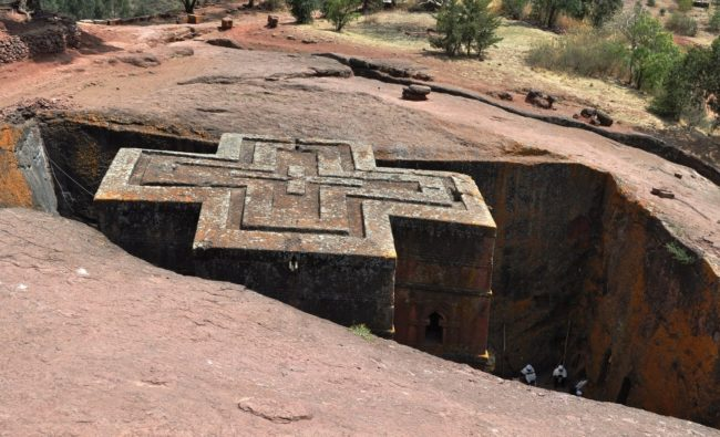 St George's Church Lalibela, from above