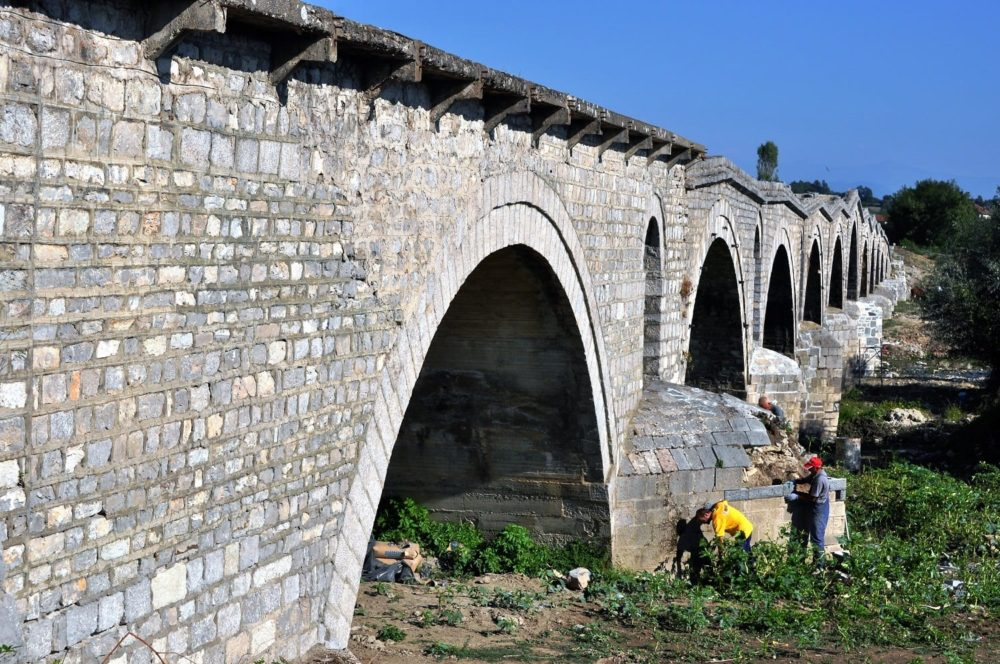 The wiggly Tailor's Bridge at Gjakova, Kosovo