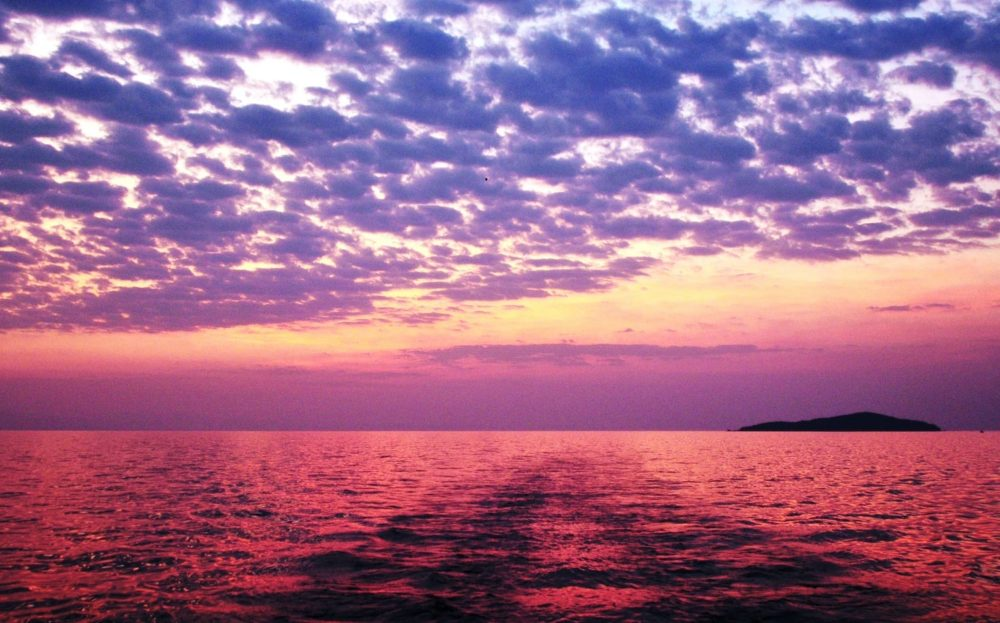 Sunset turns the whole of Lake Malawi red