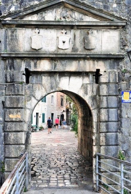 A gateway arch in Kotor, Montenegro