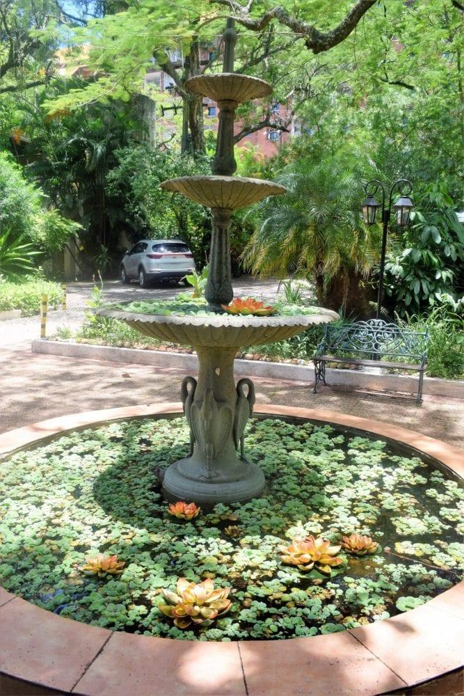 A fountain at the Hotel del Lago
