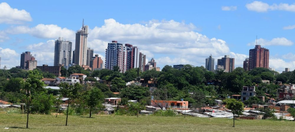 Panoramic view of Asuncion from the river