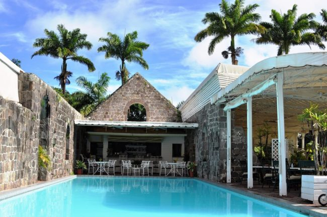 The swimming pool at Ottley's Planation Hotel St Kitts
