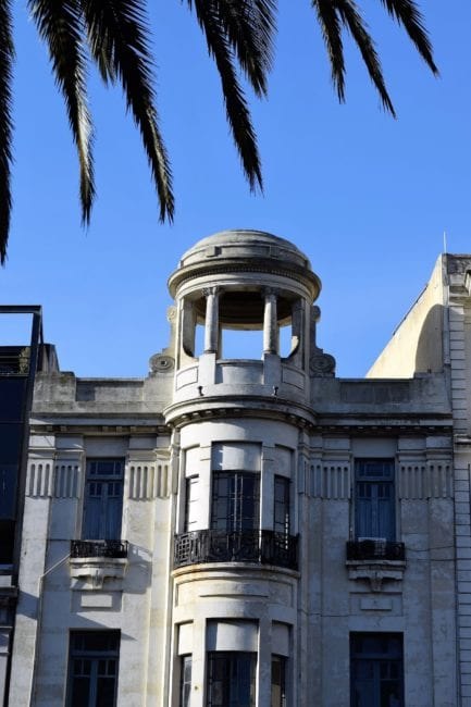 A cupola atop a building in Montevideo