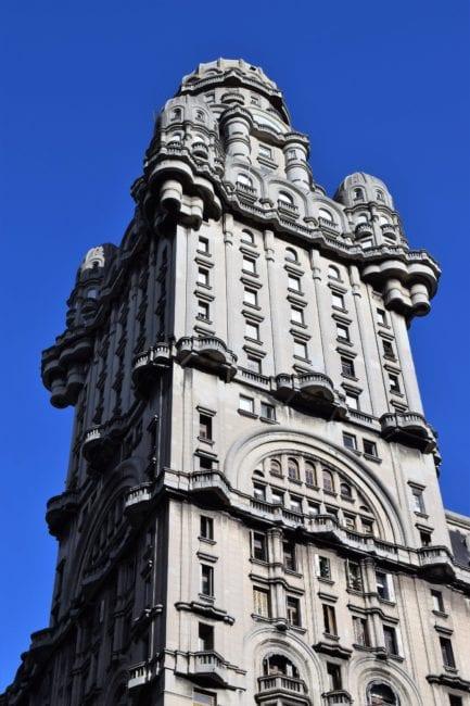The heavy tower of the Palacio Salvo, Montevideo