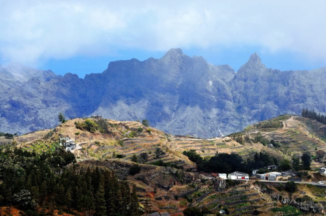 The rugged mountains of Santo Antao