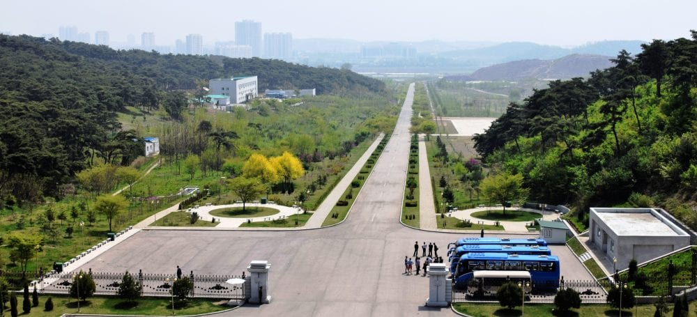 The approach to the Hall of Gifts Pyongyang