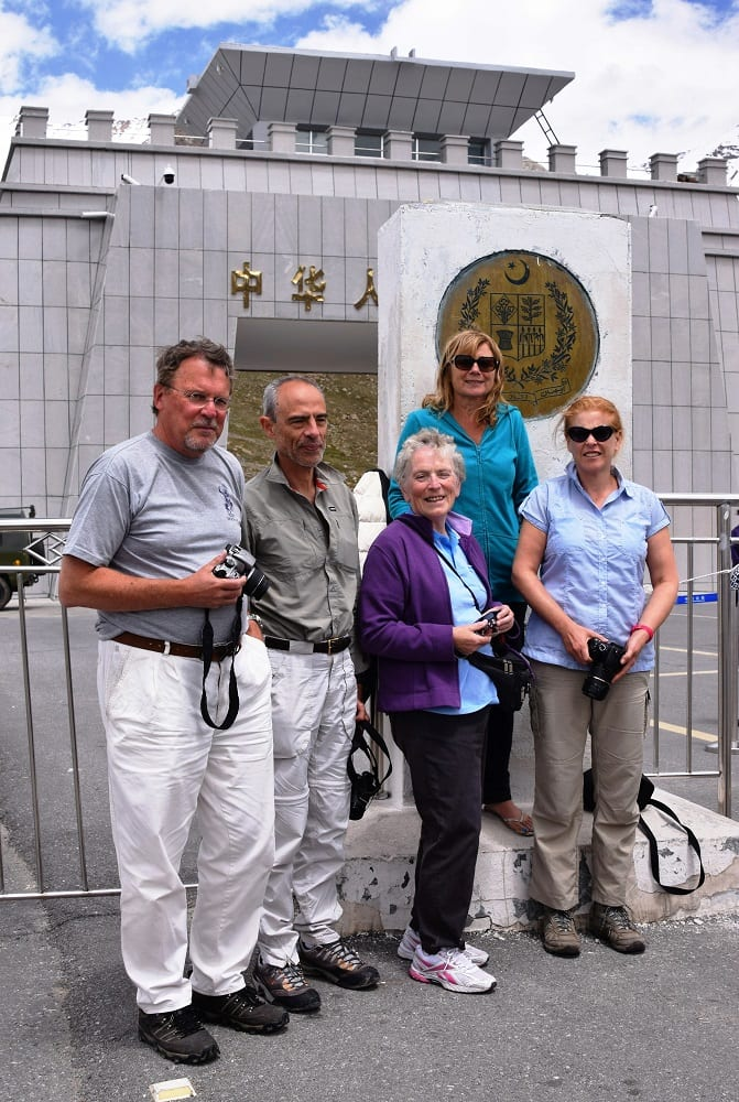 Our tour group at the China/Pakistan border