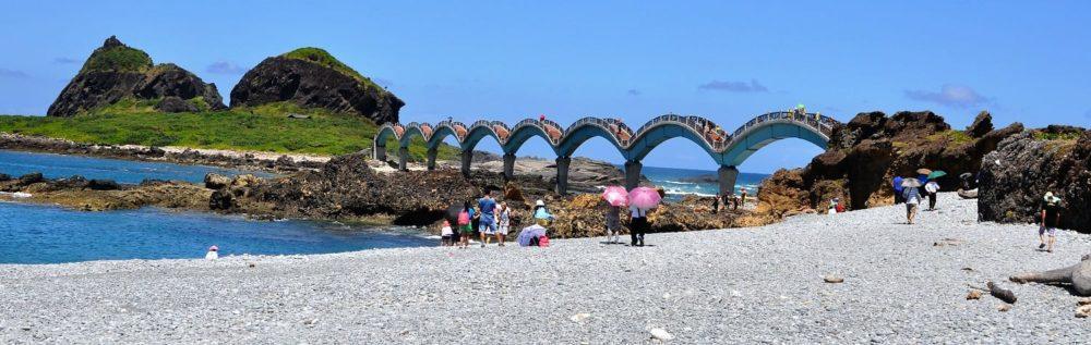Sanxiantai sea snake shaped bridge, Taiwan
