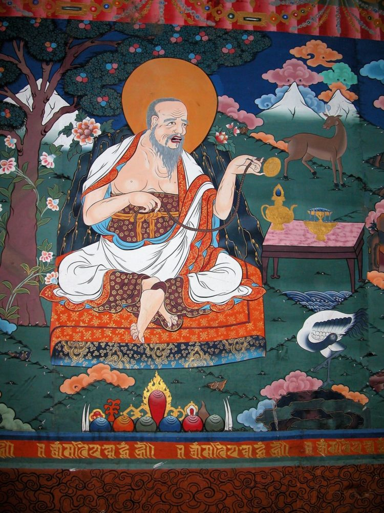 Painting in a Buddhist monastery in Bhutan