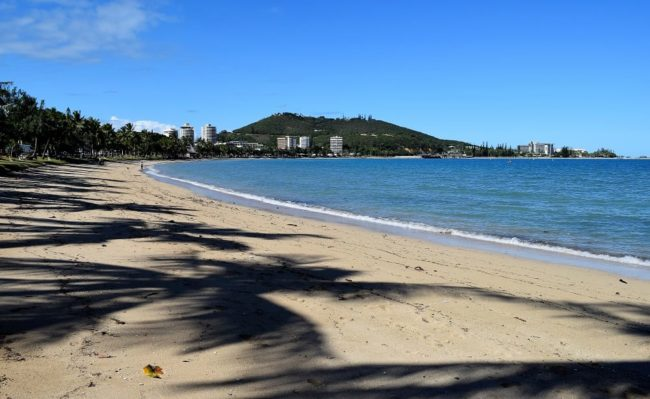 A sweep of beach at Noumea New Caledonia
