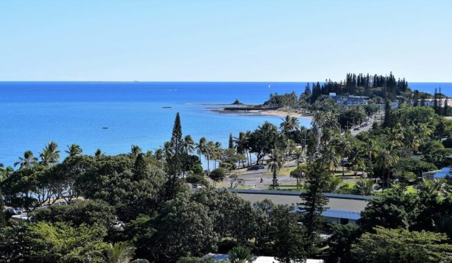 A view of the bay at Noumea New Caledonia form my hotel