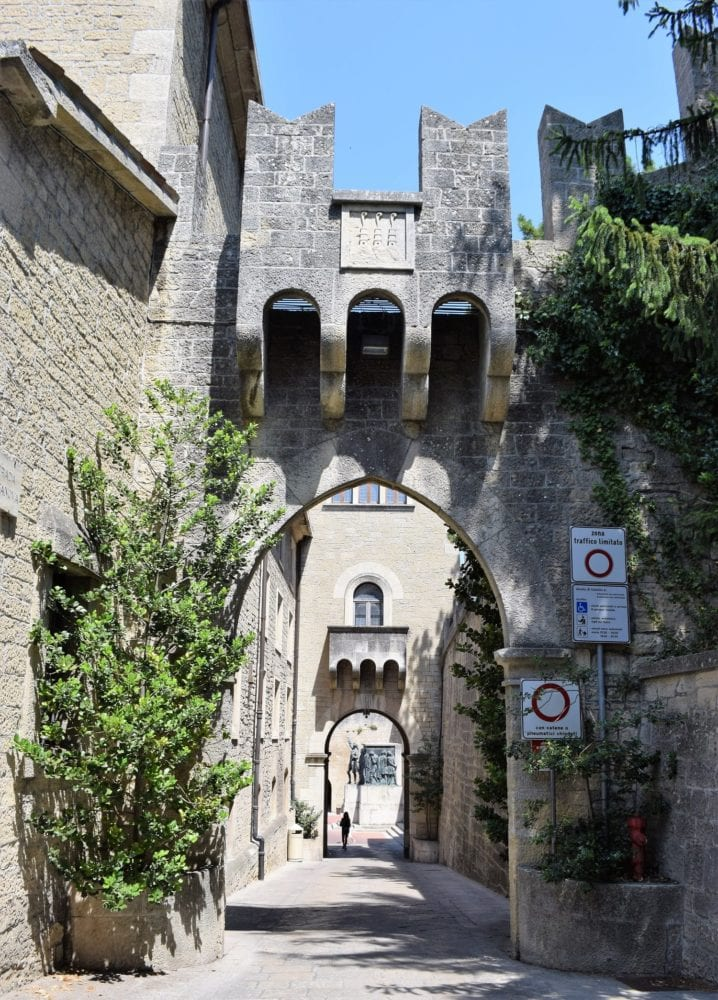 Archways in San Marino fortress