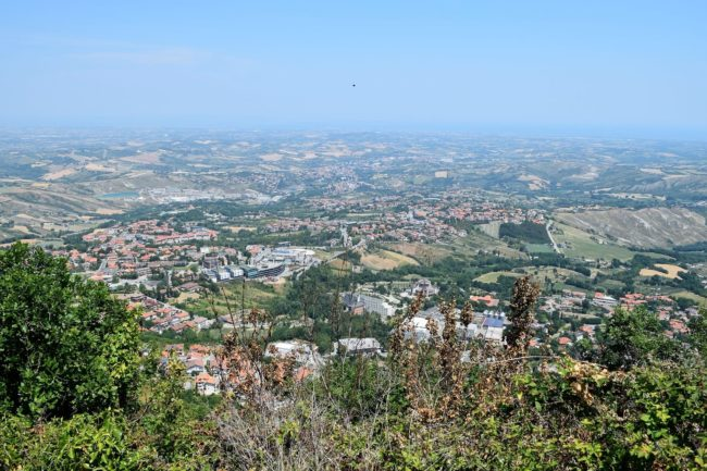 A view across the rolling hills of San Marino