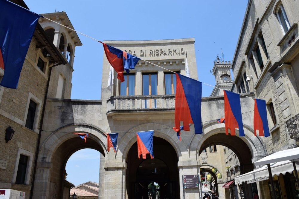 The arched entrance to the State Museum San Marino