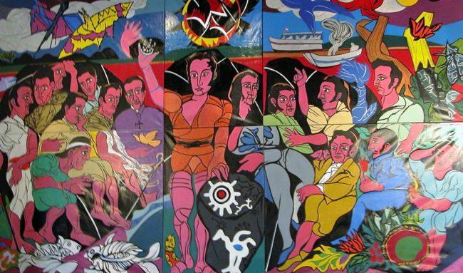 A revolutionary mural in Caracas, Venezuela