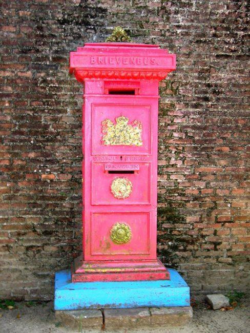 Old red post box Paramaribo