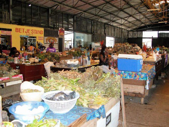 The market in Paramaribo