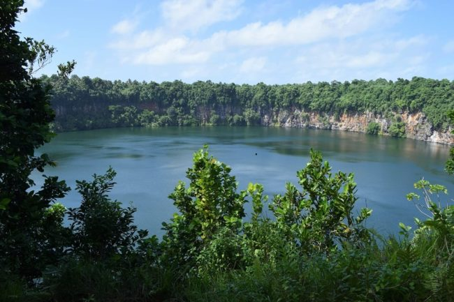 The crater lake on Wallis Island