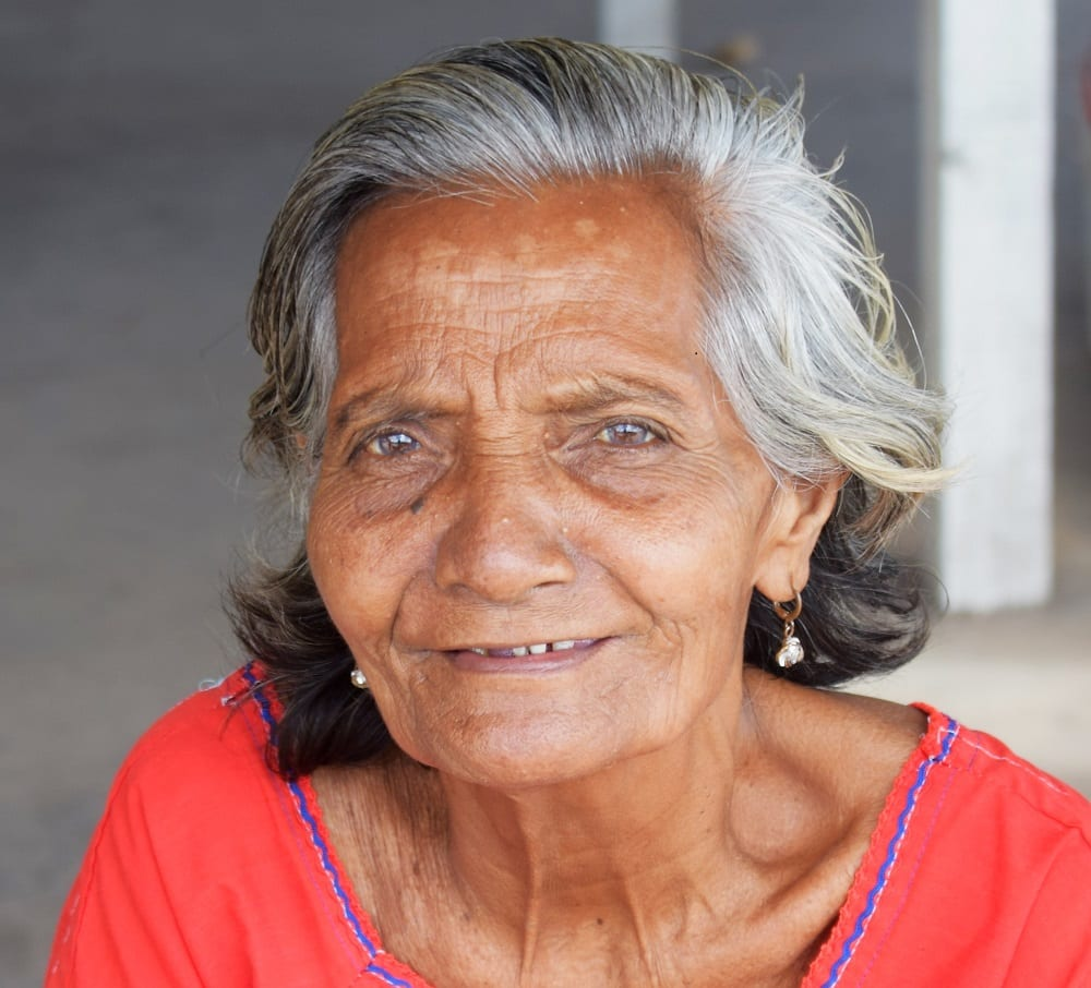 Portrait of an old lady at the market in South Tarawa