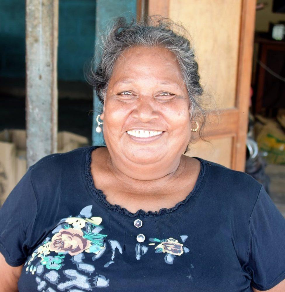 Portrait of a lady at the market in South Tarawa Kiribati