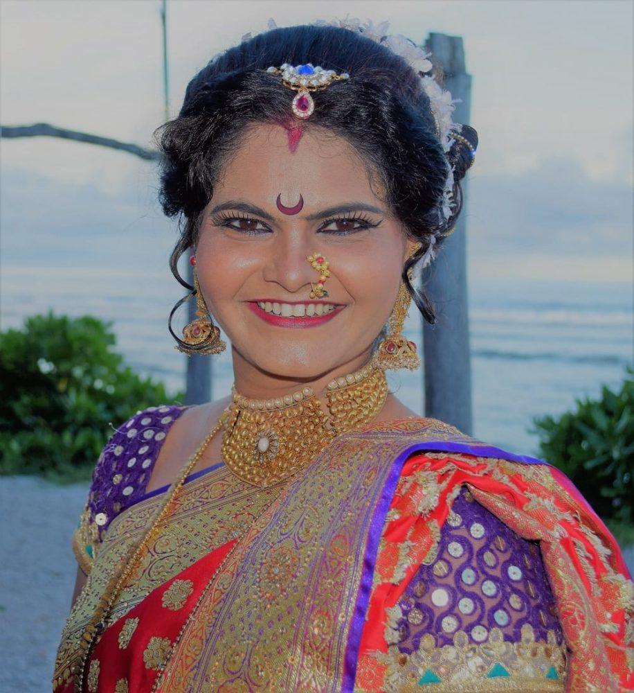 A portrait of a female Indian dancer in Nauru