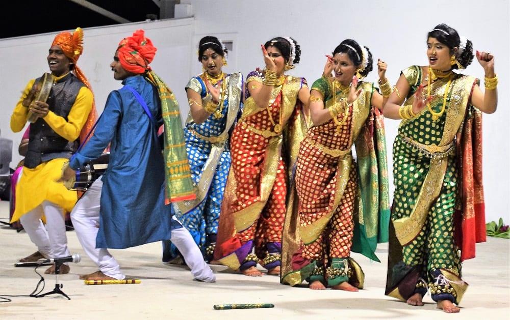 Indian dancers performing on stage at Nauru