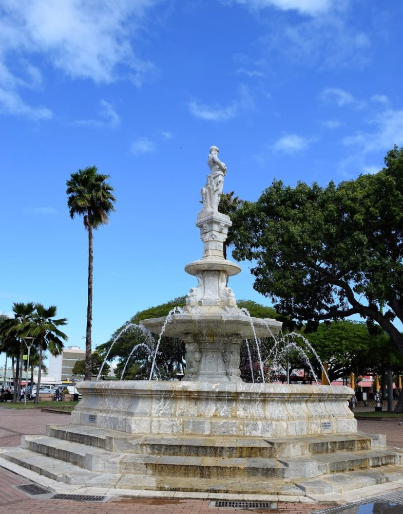 A fountain in the centre of Noumea, New Caledonia