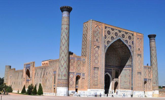 A view of the Registan, Samarkand, Uzbekistan