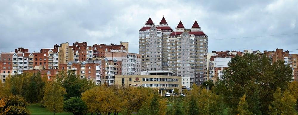 Soviet style apartment blocks in Minsk