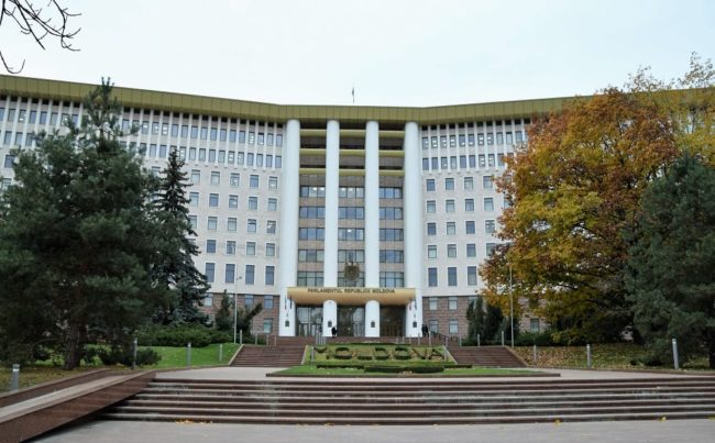 The parliament building in Chisinau Moldova