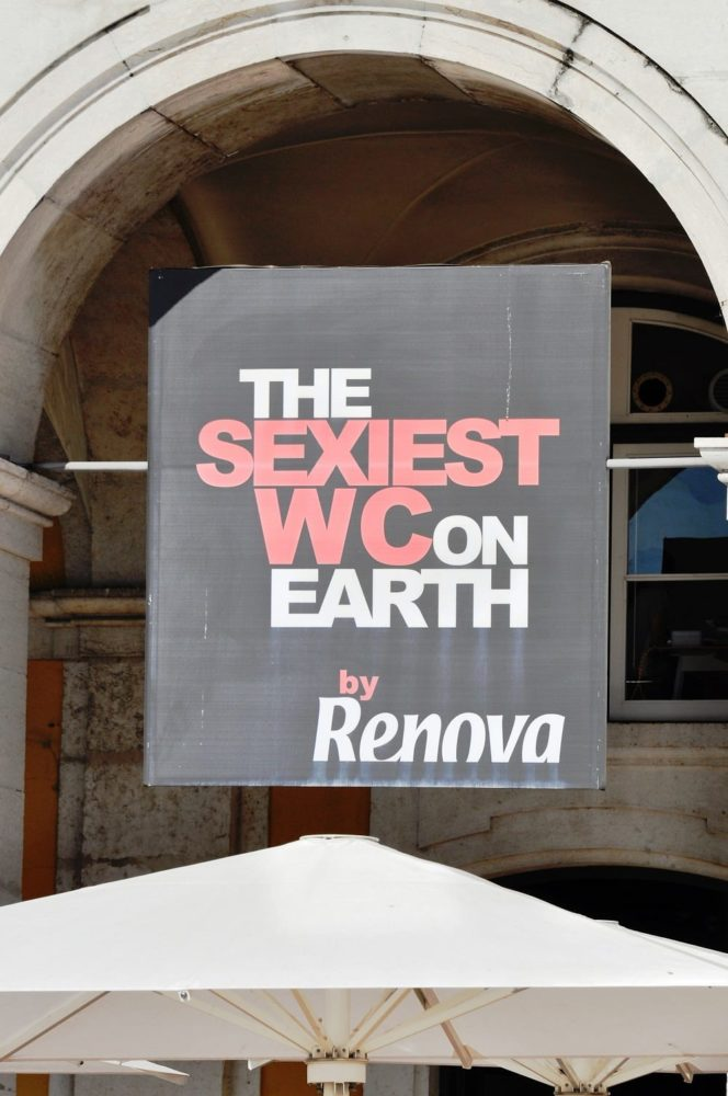 Sign in Lisbon- sexiest WC on Earth