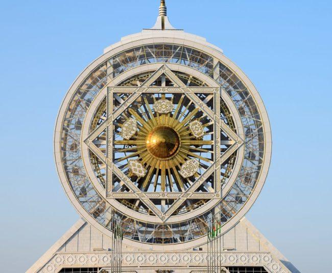 The enclosed Ferris wheel at Ashgabat