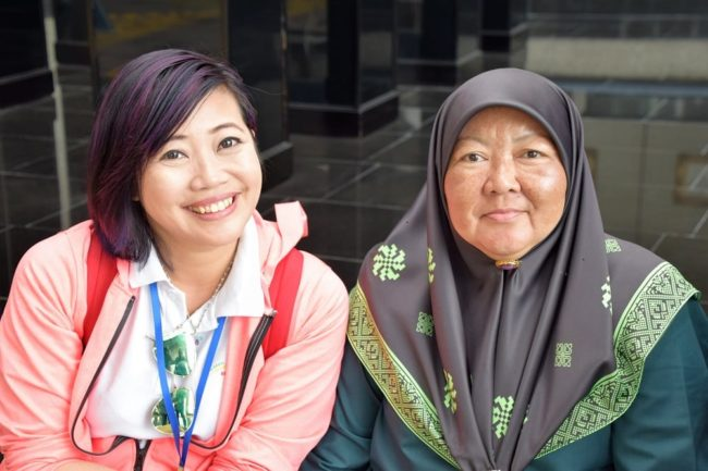 Two female employees at the Royal Regalia Building at Bandar Seri Begawan